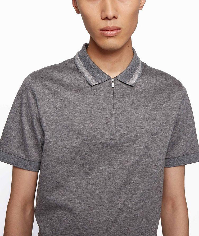 Half-Zip Slim Fit Cotton Polo image 4