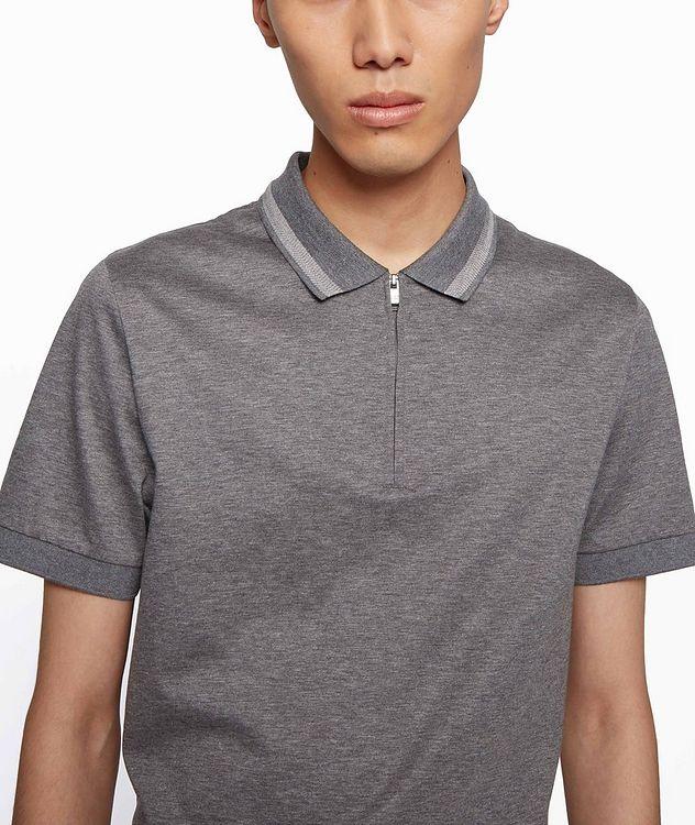 Half-Zip Slim Fit Cotton Polo picture 5