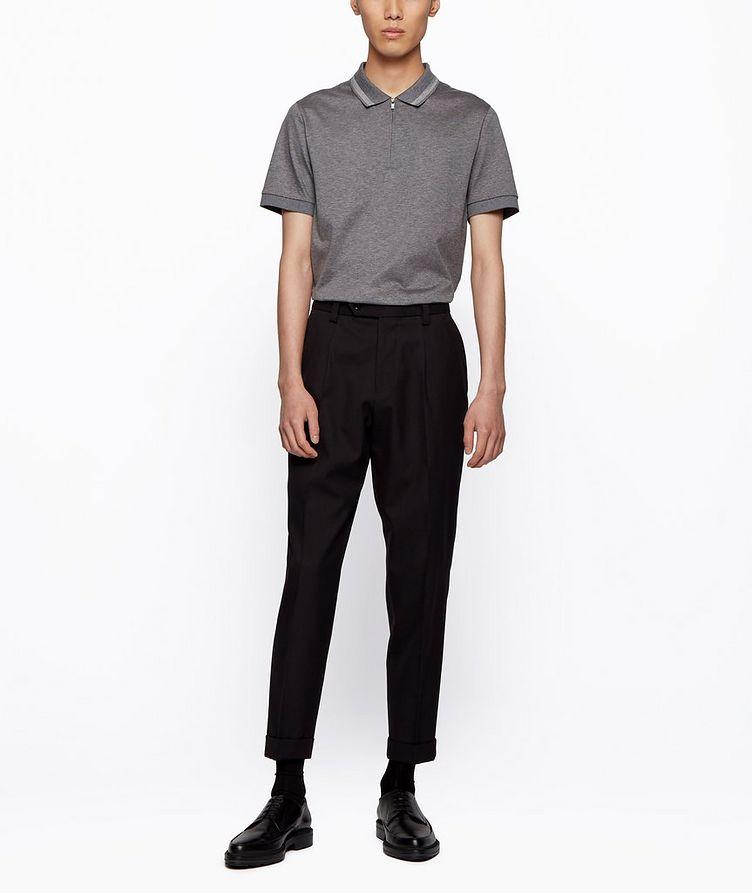 Half-Zip Slim Fit Cotton Polo image 5