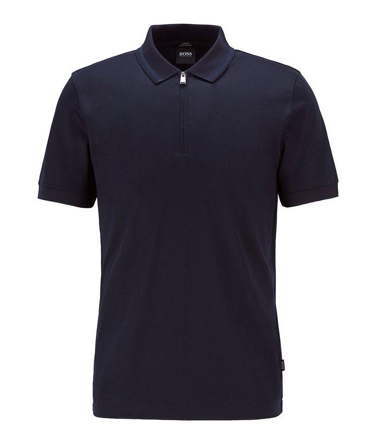 Half-Zip Slim Fit Cotton Polo image 0