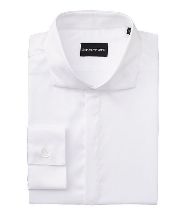 Slim Fit Stretch-Cotton Dress Shirt picture 1