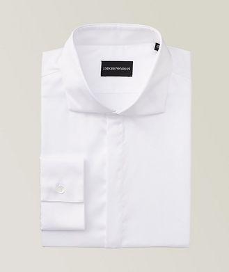 Emporio Armani Slim Fit Stretch-Cotton Dress Shirt