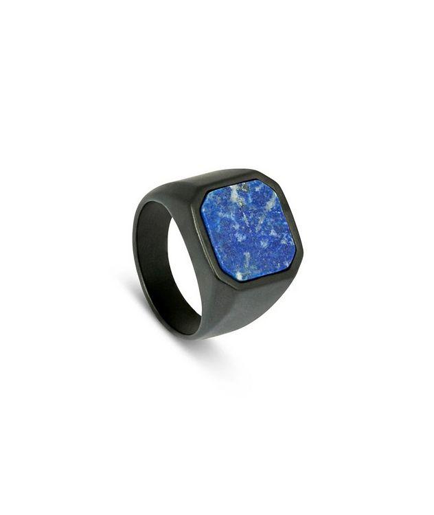 Ceramic Signet Ring with Lapis picture 2