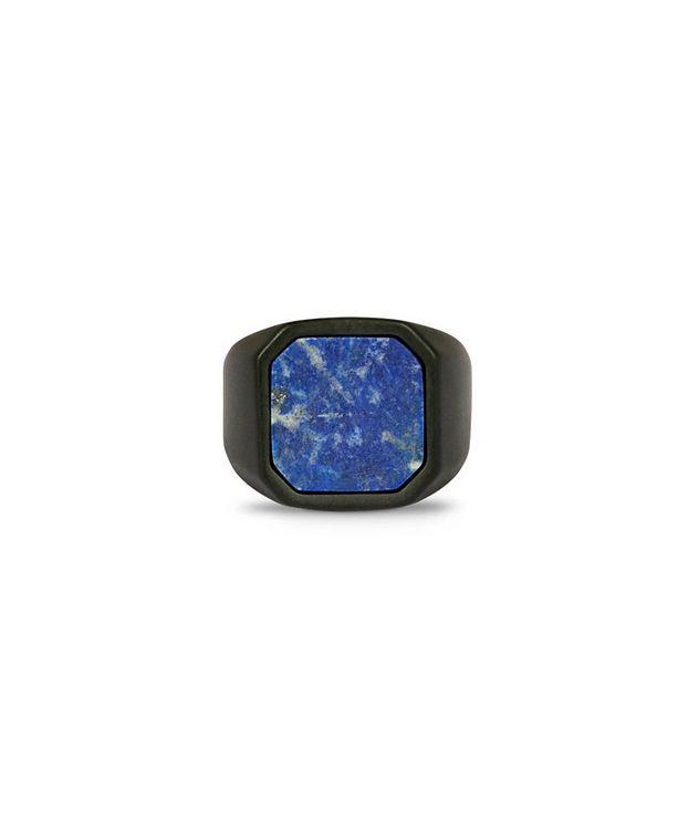 Ceramic Signet Ring with Lapis picture 3
