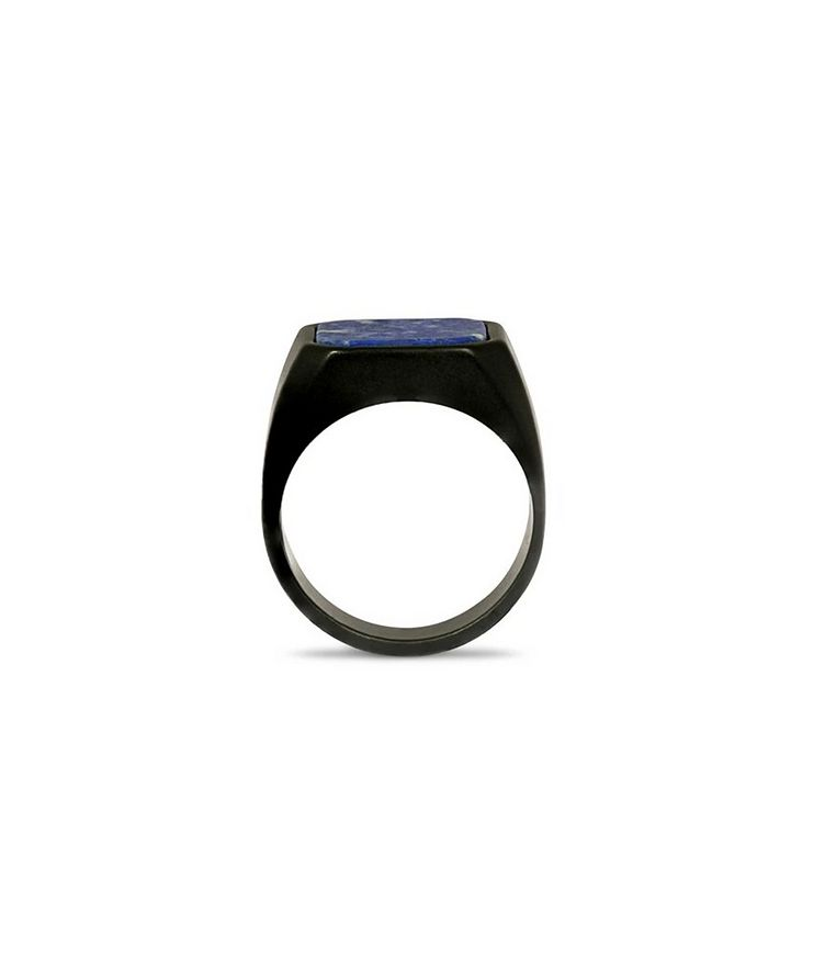 Ceramic Signet Ring with Lapis image 3