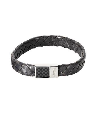 Tateossian London Braided Leather Bracelet