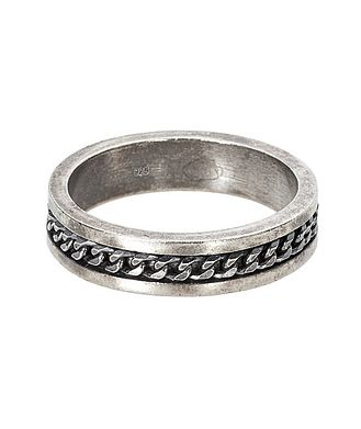 Tateossian London Oxidized Silver Ring