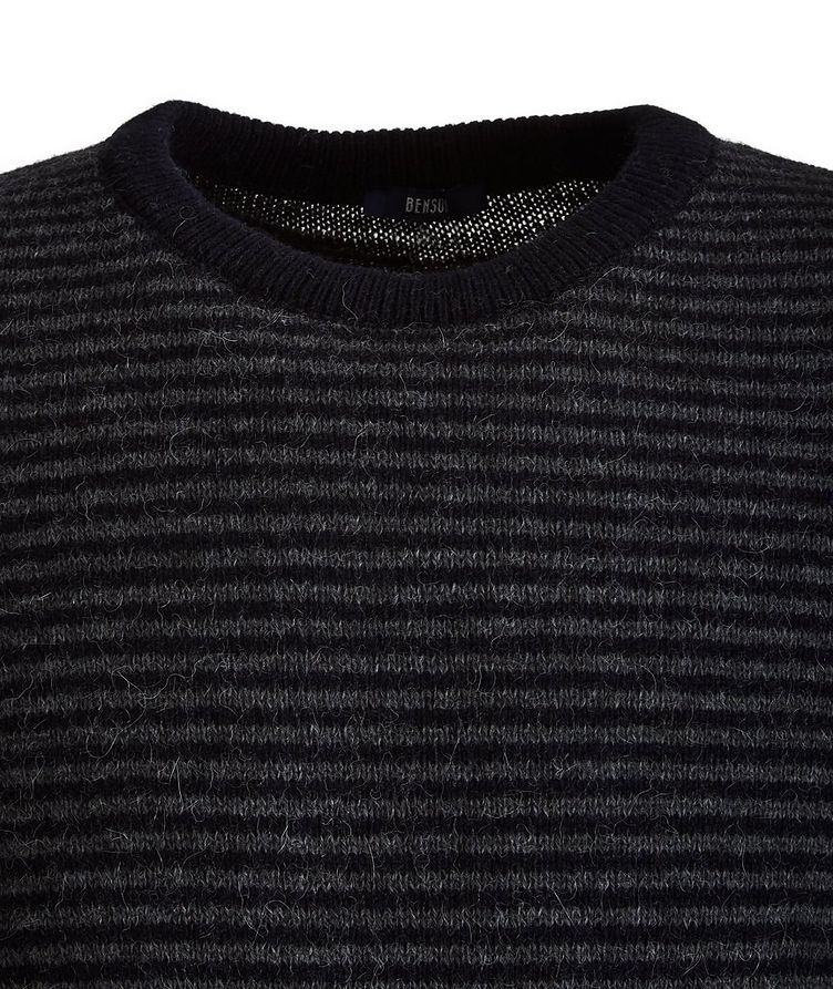 Striped Alpaca-Blend Sweater image 1