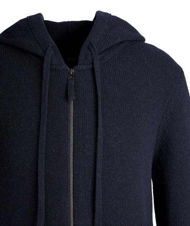 Zip-Up Wool-Cashmere Hoodie picture 2