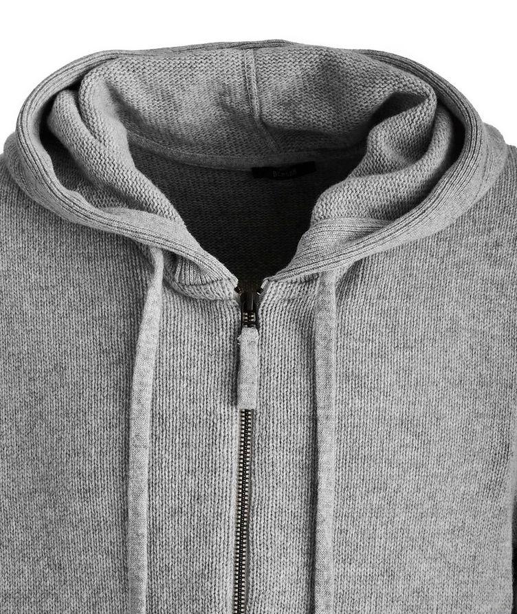 Zip-Up Wool-Cashmere Hoodie image 1