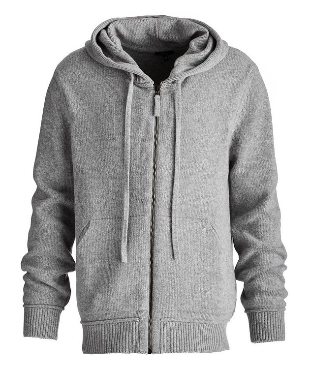 Zip-Up Wool-Cashmere Hoodie picture 1