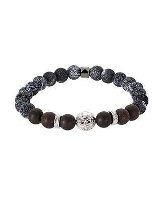 Tateossian London Beaded Agate Bracelet
