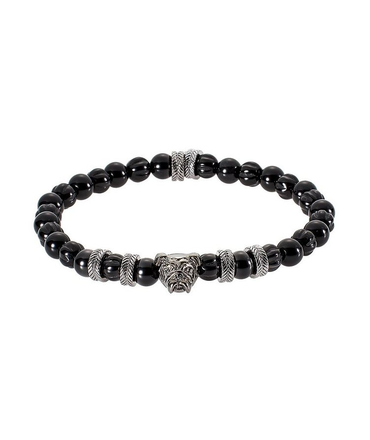 Agate Bulldog Bead Bracelet image 0