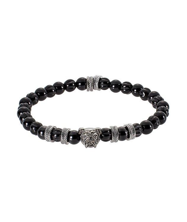 Agate Bulldog Bead Bracelet picture 1