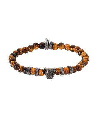 Tateossian London Tiger Eye Bulldog Bead Bracelet