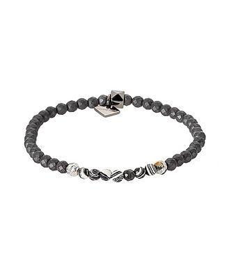 Tateossian London Hematite Bead Bracelet