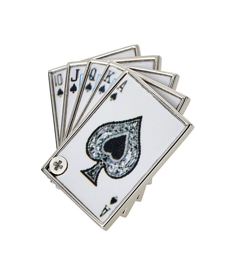 Royal Flush Cards Lapel Pin image 0
