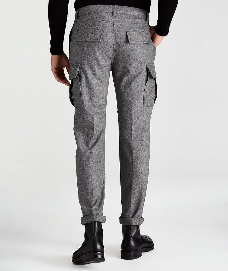 Wool-Cashmere Stretch Cargo Pants image 1