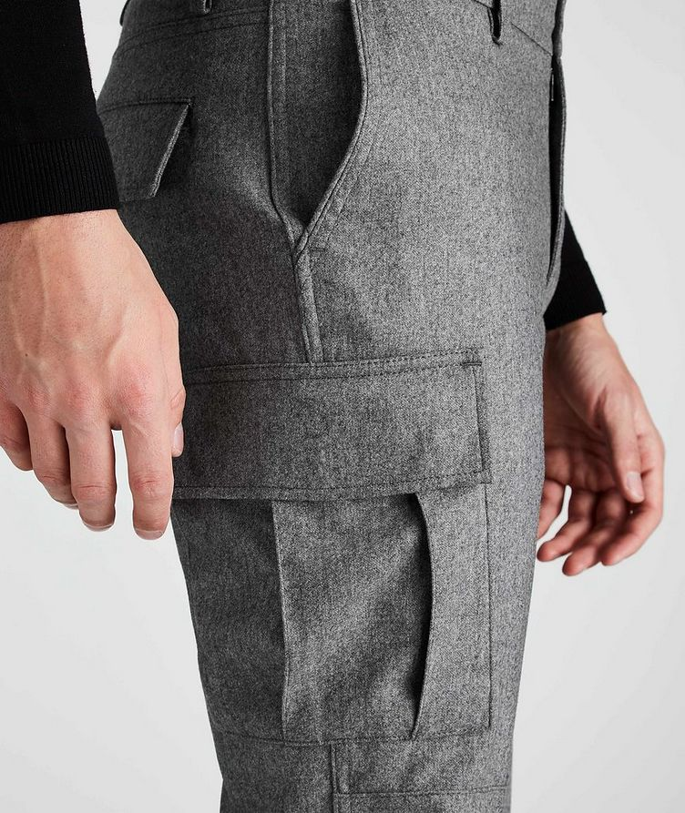 Wool-Cashmere Stretch Cargo Pants image 3