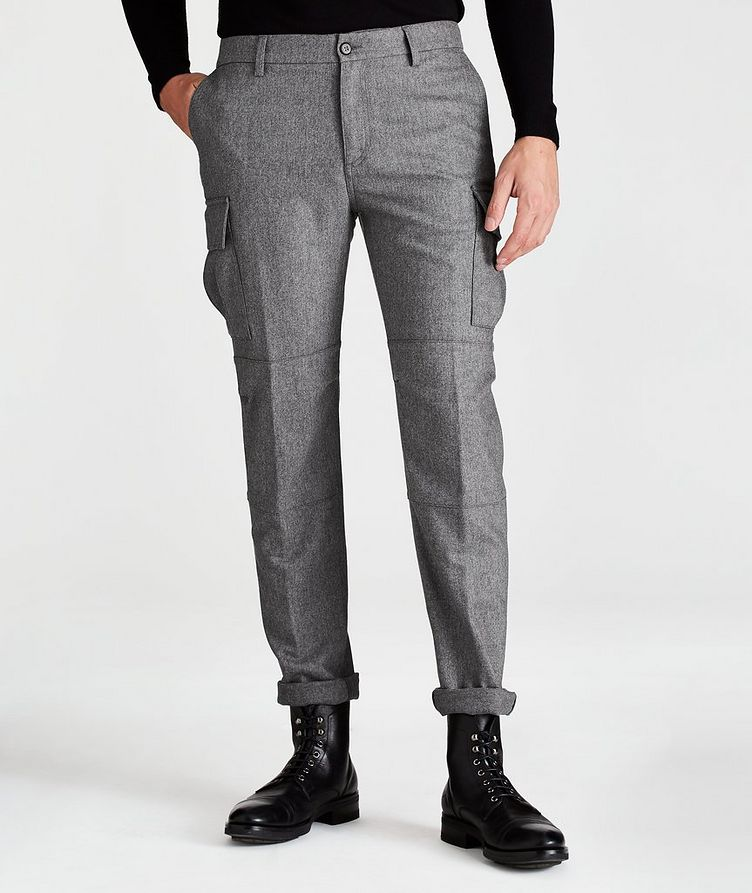 Wool-Cashmere Stretch Cargo Pants image 0