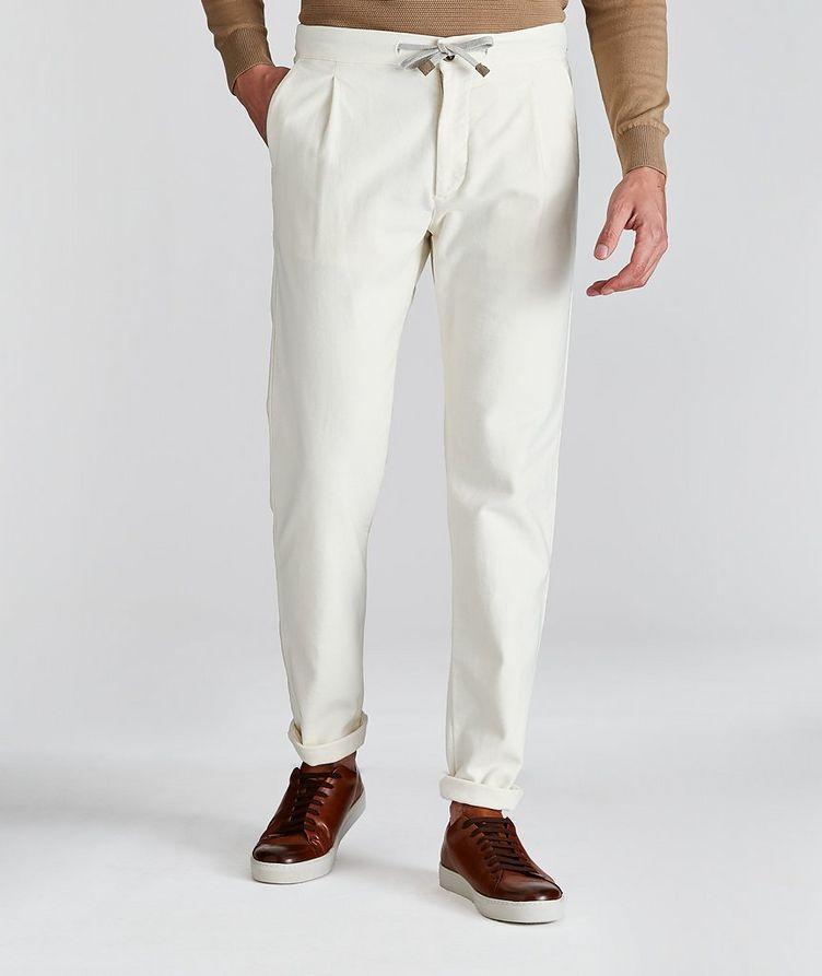 Drawstring Cotton Pants image 0