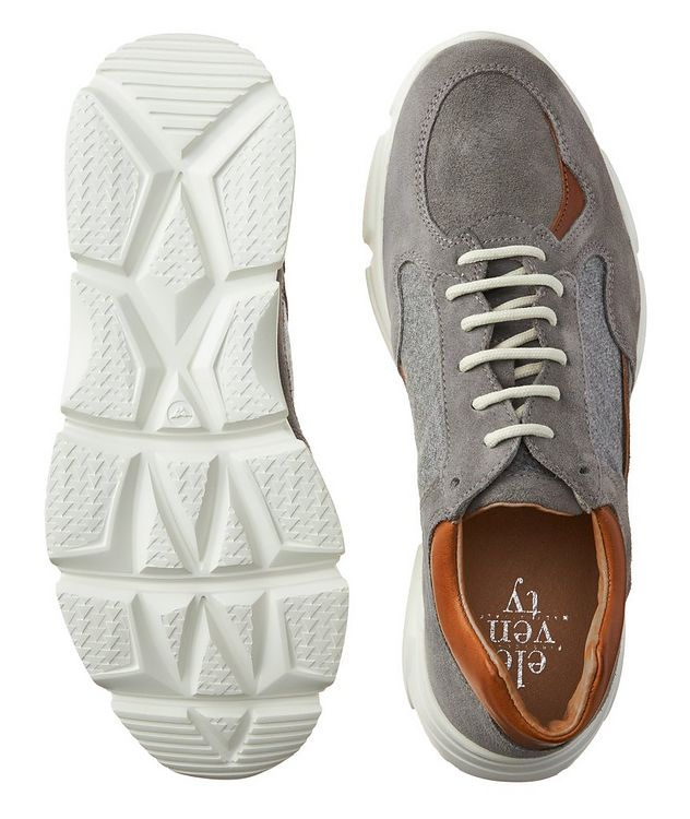 Suede & knit Sneakers picture 3