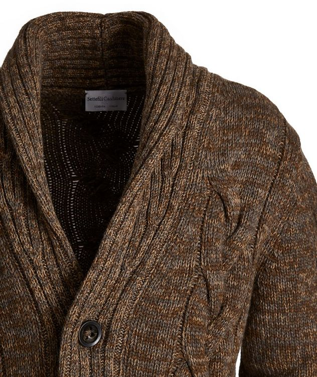Cable Knit Cashmere Cardigan picture 3