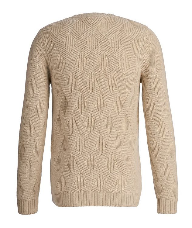 Basketweave Cashmere Sweater picture 2