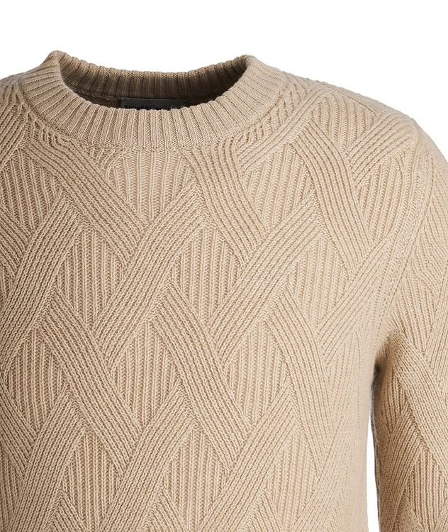 Basketweave Cashmere Sweater picture 3