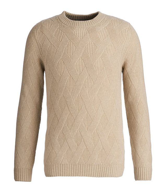 Basketweave Cashmere Sweater picture 1
