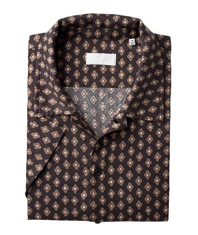 Short-Sleeve Lyocell-Cotton Shirt picture 1