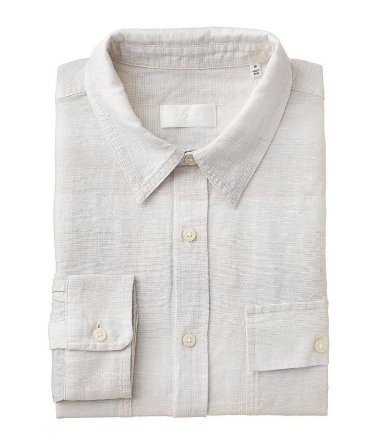 Plaid Linen-Cotton Shirt image 0