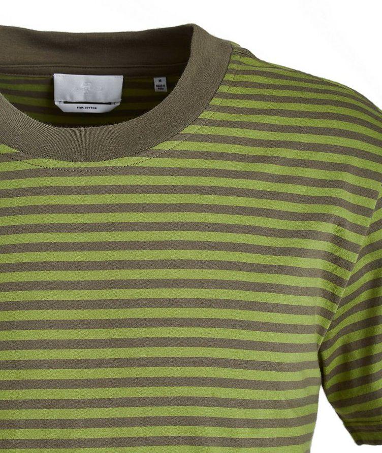 Slim-Fit Striped Pima Cotton T-Shirt image 1