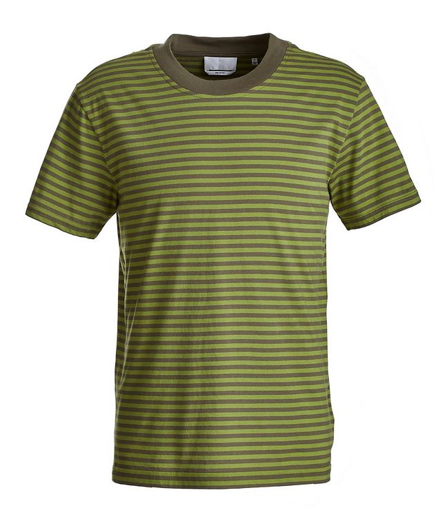 Slim-Fit Striped Pima Cotton T-Shirt picture 1