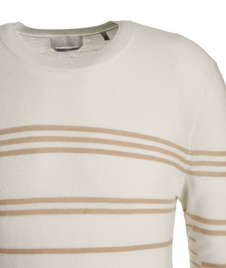 Slim-Fit Striped Merino Wool Sweater image 1