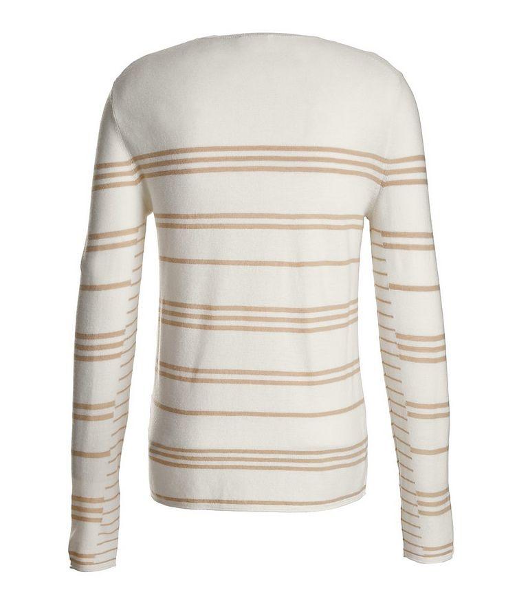 Slim-Fit Striped Merino Wool Sweater image 2