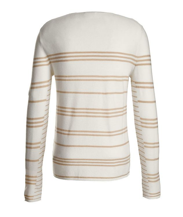 Slim-Fit Striped Merino Wool Sweater picture 3