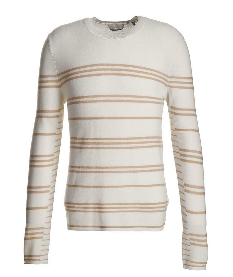 Slim-Fit Striped Merino Wool Sweater image 0