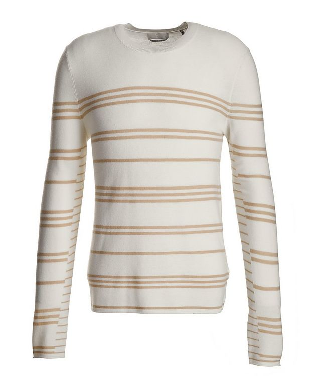 Slim-Fit Striped Merino Wool Sweater picture 1
