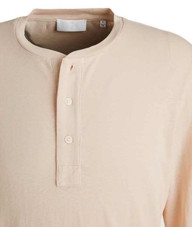 Slim-Fit Hemp and Organic Cotton Henley picture 2