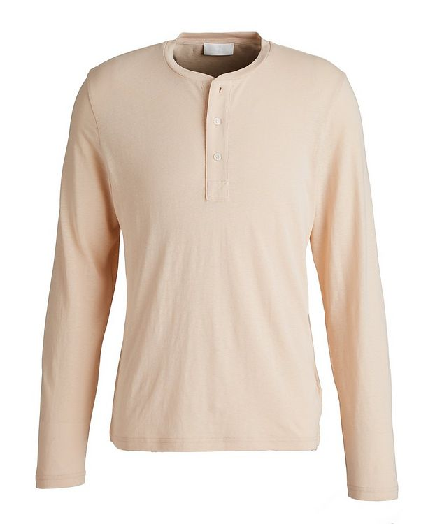 Slim-Fit Hemp and Organic Cotton Henley picture 1