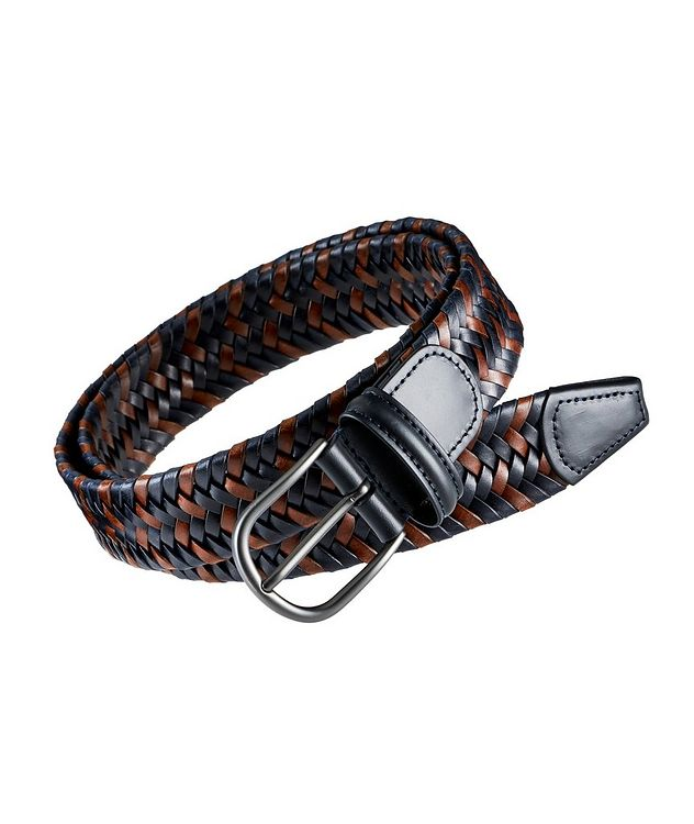 Woven Leather Stretch Belt picture 1