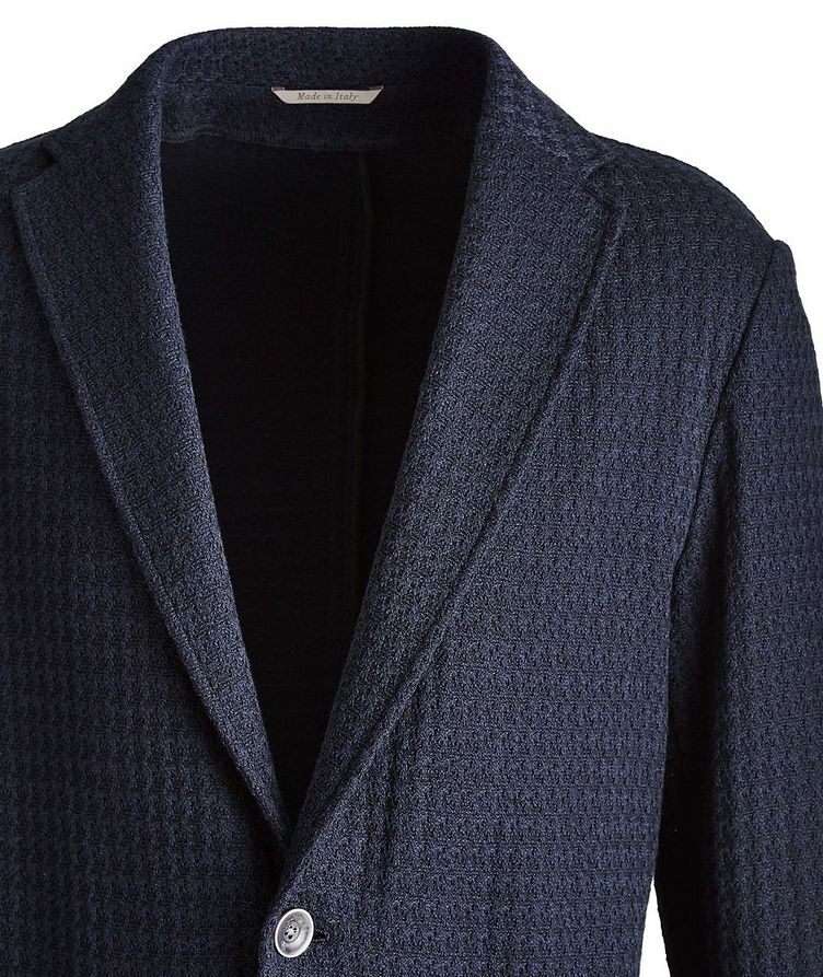 Unstructured Knit Cotton Sports Jacket image 1