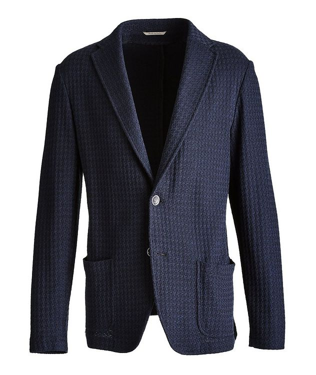 Unstructured Knit Cotton Sports Jacket picture 1
