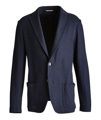 Canali Unstructured Knit Cotton Sports Jacket