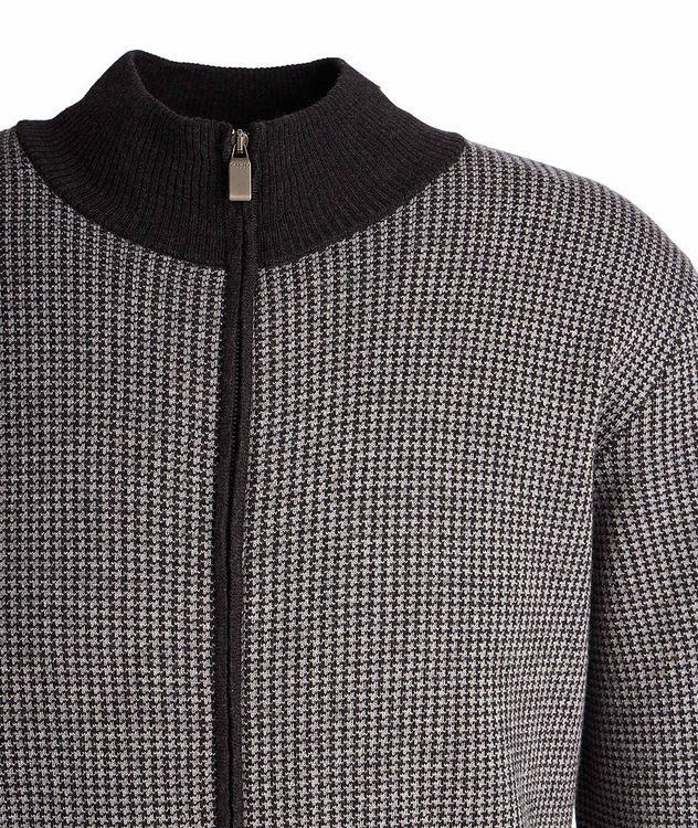 Zip-Up Wool Sweater picture 2