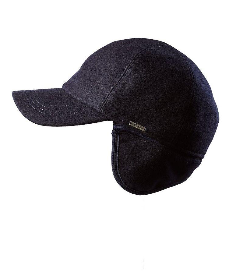 Melton Earflap Baseball Cap image 1
