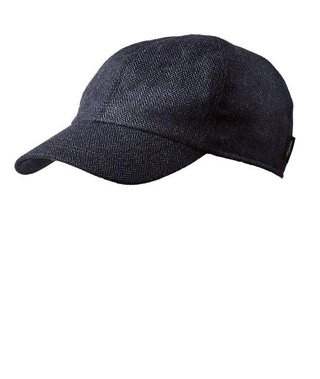 Herringbone Wool-Blend Baseball Cap picture 2