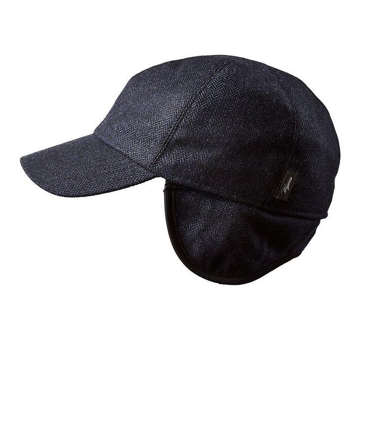 Herringbone Wool-Blend Baseball Cap image 0