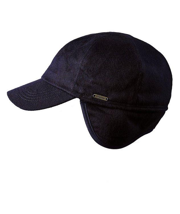 Cashmere Earflap Baseball Cap picture 2